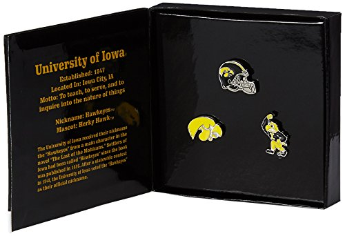 - Game Day Outfitters NCAA Iowa Hawkeyes Jewelry Lapel Pin Set, One Size, Multicolor