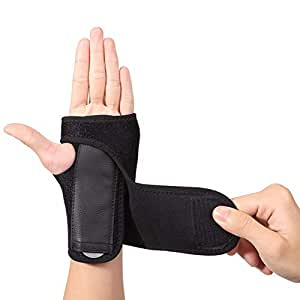1 Pair of Wrist Support Carpal Tunnel Splint, Wrist Strap Hand Support for Men Women, Adjustable Wrist Brace for Immediate Pain Relief from Carpal Tunnel Syndrome CTS Wrist Pain Sprains RSI Arthritis
