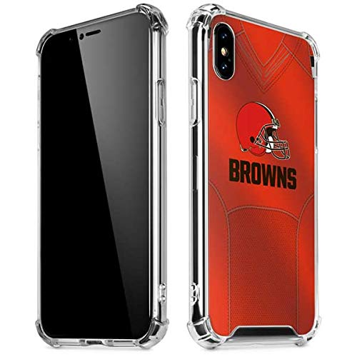 Skinit Cleveland Browns Team Jersey iPhone Xs Max Clear Case - Officially Licensed NFL Phone Case Clear - Transparent iPhone Xs Max Cover