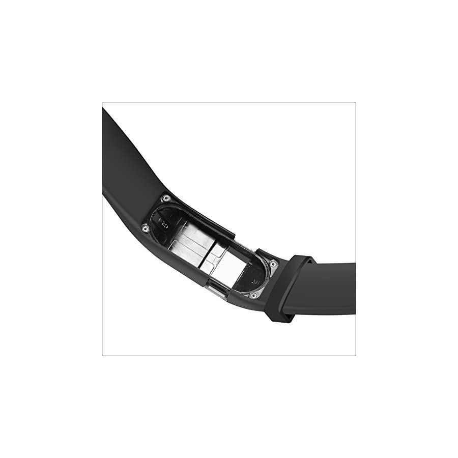 Wizvv Compatible Bands Replacement for Fitbit Charge HR,Charge HR 1, With Metal Buckle Fitness Wristband Strap Women Men Large Small (9 Colors)
