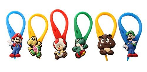 [AVIRGO 6 pcs Colorful Soft Zipper Pull Charms for Backpack Bag Pendant Jackett Set # 67-4] (Donkey Kong Costume For Women)
