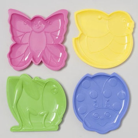 CANDY DISH PLASTIC 4AST STYLES BEE/FROG/LADYBUG/BTRFLY UPCLABEL, Case Pack of 48 (Frog Candy Dish)