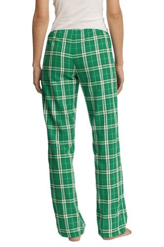 Pajama Ladies Plaid Green Pants (District Ladies Juniors Flannel Plaid Pant, Kelly Green M)