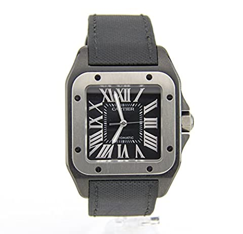 Cartier Santos 100 automatic-self-wind mens Watch 2656 (Certified Pre-owned) (Cartier Watch Women Black)
