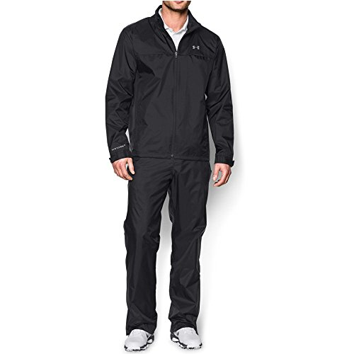 Under Armour Men's Storm Golf Rain Suit, Black (001)/Steel, (Golf Rainsuit)