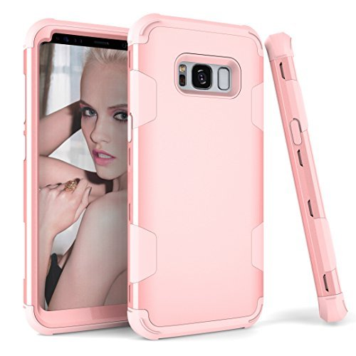 18k Two Piece Setting - Galaxy S8 Plus Case, Jessica 3in1 Hard PC Soft Silicone Rubber Combo Hybrid Impact Protection Shockproof Drop-Protection Defender Full-Body Protective Case Cover for Samsung Galaxy S8 (2017 Released)