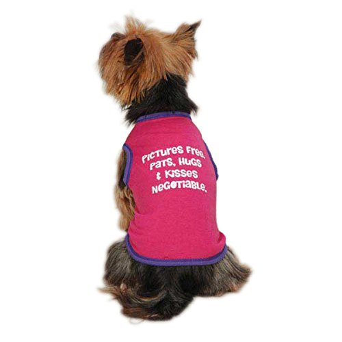 Casual Canine ZM2011 12 81 Pictures Free Tank for Dogs, Small, Raspberry by Casual Canine