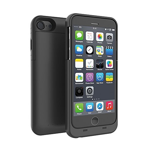 iPhone 7 Battery Case, Yuqoka 3200mAh Portable External Charging Case Power Bank MFi Certified Extended Battery Backup Rechargeable Charger Cover for iPhone 7 4.7 Inch - Black