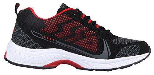 iLoveSIA Delocrd Zapatillas de running multiuso Black+Red New Design