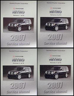 2007 dodge nitro repair shop manual 4 vol set original amazon com rh amazon com dodge nitro service manual pdf 2011 dodge nitro service manual