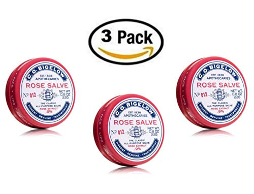 C.O. Bigelow ROSE SALVE The Classic All-Purpose Salve 22g/0.8oz, (3 Pack) ()