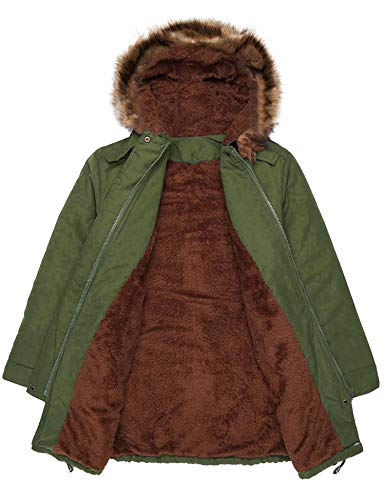 3e9a867a9 Beyove Women Winter Warm Hoodie Faux Fur Lined Down Parka Outdoor ...