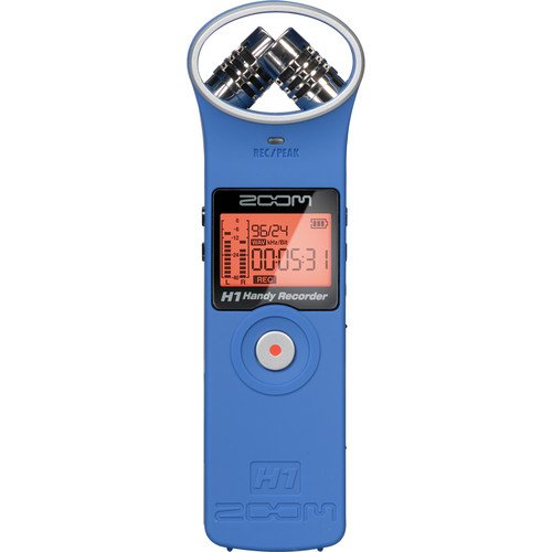 ZOOM H1 Handy Portable Digital Recorder (Blue) H1B