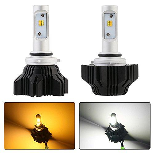 NOVSIGHT 9006 HB4 LED Headlight Switchback Dual Color 6500K 3000K LED Bulbs - 40W(2x20W) 8000LM(2x4000LM)