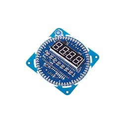 SMAKN® DIY Ds1302 Rotation LED Electronic Clock Kit 51 SCM Learning Board