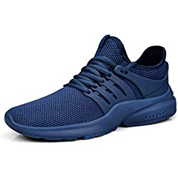 Feetmat Men's Slip on Mesh Sneakers Lightweight Breathable Athletic Running Walking Tennis Shoes Blue 9.5M