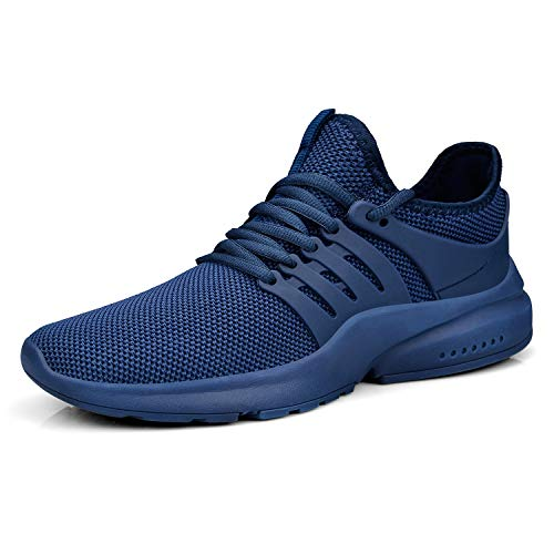Feetmat Men's Sneakers Running Shoes Lightweight Mesh Breathable Tennnis Workout Gym Shoes Blue 12.5M