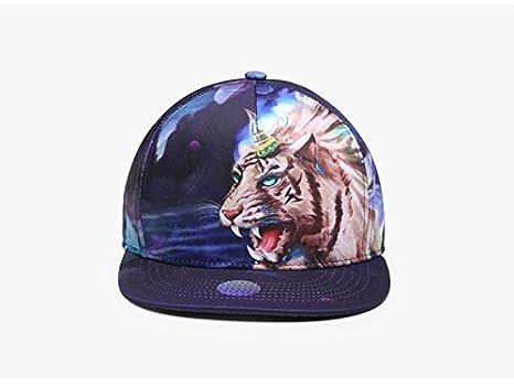 Man&Y Gorra de béisbol Trend Tiger Graffiti Impresión 3D Tiger ...
