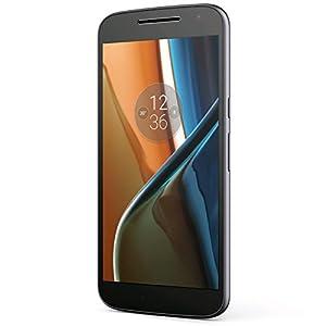 "Motorola Moto G4 (16GB) XT1621 GSM Factory Unlocked 4G LTE Phone - 5.5"" Screen (International Version - No Warranty) - Black"