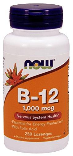 NOW Foods B-12 1000mcg  250 Lozenges