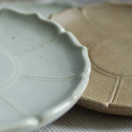 Kitchen Tea Set Porcelain Drinkware Set Saucers Creative Lotus Ceramic Dish Disc Snack Dish Coffee Cup Mat,#2 (Color : #1) by Chusea (Image #1)