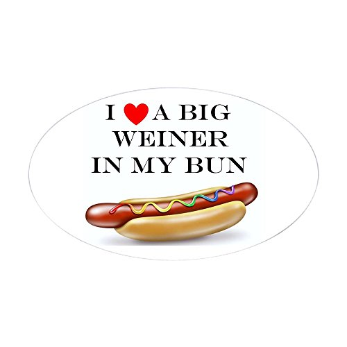 CafePress I Love Weiner Oval Bumper Sticker, Euro Oval Car Decal ()