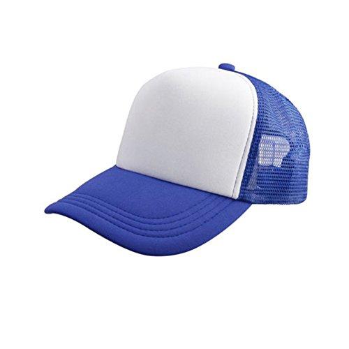 Womens Men Sport Baseball Visor Cap Plain Blank Golf Ball Hat(blue) - 2