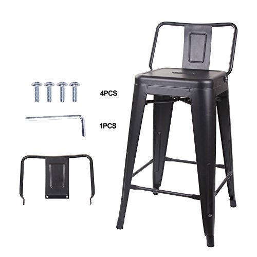 GIA Low Back Metal Barstool 24
