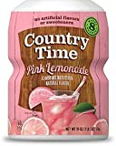 Country Time, Powdered Drink Mix, Pink Lemonade, 19oz Tub (Pack of 3)