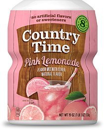 Country Time, Powdered Drink Mix, Pink Lemonade, 19oz Tub (Pack of -