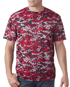 Badger Adult B-Core Digital Camo Tee 4180 -Red Digital XL