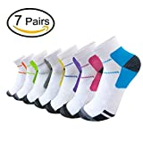 Sport Plantar Fasciitis Compression Socks Arch Support Ankle Socks - 7 Pairs (S/M, Multicoloured 3)