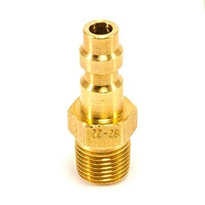 """Foster 2 Series - Brass Plug, 1/8"""" Body, 1/8"""" NPT - Industrial Interchange"""