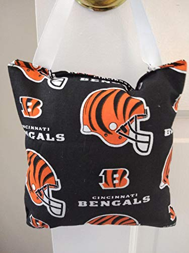 Tooth fairy Pillow NFL Bengals with pocket for money, Girl or boy. Teeth Chart included. Kids