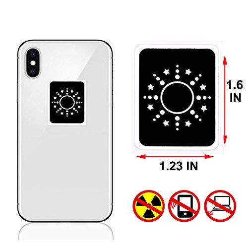ZENVAN EMF Radiation Protection for Cell Phones, Anti EMF Shield Sticker WiFi, Laptop, EMR Blocker Neutralizer Device (1 New Updated Pack - Black)