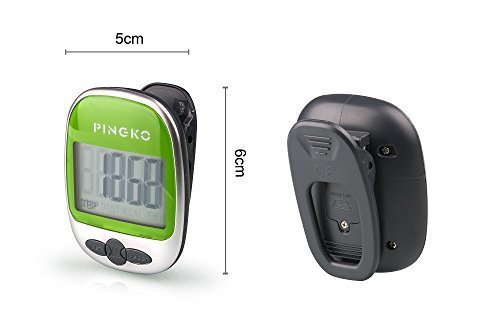 PINGKO Outdoor Multi function Portable Sport Pedometer Step/distance/calories/ Counter Green