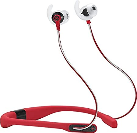 JBL REFFITRED Reflect Fit in-Ear Wireless Headphones with Heart-Rate Monitor (Red) <span at amazon