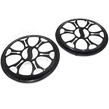 Amazon Com Uxcell 2 Pcs 10 Dia Black Plastic Audio Speaker