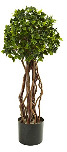 - Artificial Tree -2.5 Foot English Ivy Topiary Tree