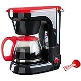 Domoclip DOD115 Cafetière 6 Tasses - Mini Kitchen noir et rouge 6 Litre, 650