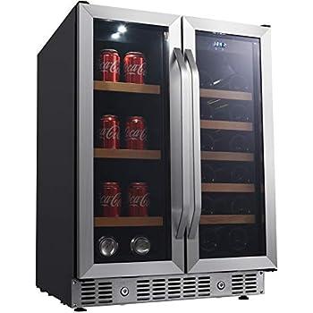 Amazon Com Zephyr Presrv Dual Zone Wine Amp Beverage Cooler
