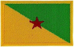 Akachafactory Gesticktes-Aufn/äher Patch Flagge Guyana zum Aufb/ügeln Backpack Motorrad Biker