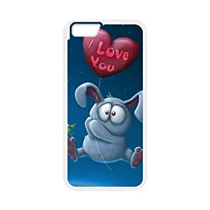 """YCHZH Phone case Of Cute Cartoon Rabbit Cover Case For iPhone 6 Plus (5.5"""")"""