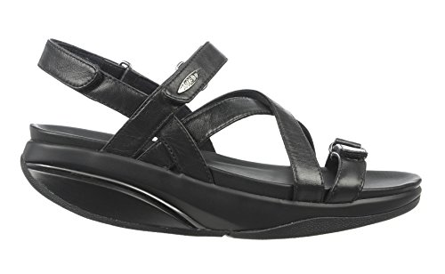 MBT Shoes Women's Kiburi Sandal: Black 6 Medium (B) Velcro Mbt Fitness Shoes