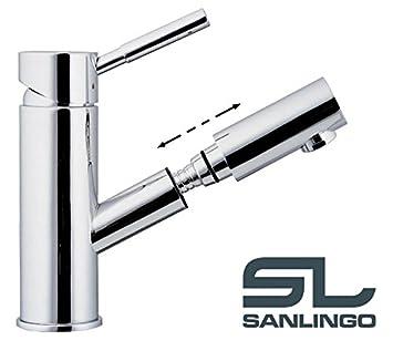 Praktische Armatur Wasserhahn Bad Waschbecken Chrom Spulbecken