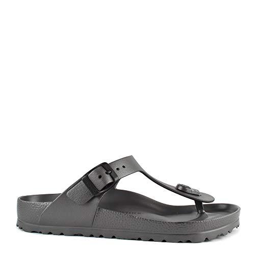 Birkenstock Essentials Unisex Gizeh EVA Sandals Metallic Anthracite 36 N EU (US Women's 5-5.5)]()
