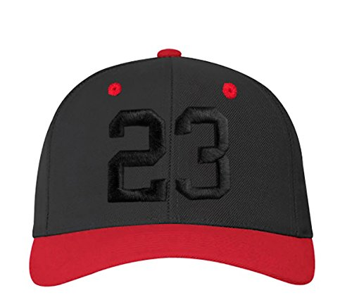 a 23 nbsp;Números carta gorra en letras blanco rojo y 23 ABC negro black 3d 4sold con Z A color FtAx6w