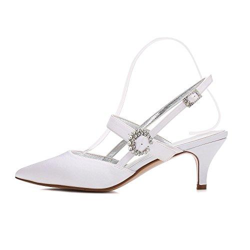 Boda Zapatos Otoño Noche Blanco Punta Comfort Seda Fiesta De L Stiletto Mujer Estrecha Vestido Y yc Primavera Verano El Talón Purple Invierno Para pTwnqS4C