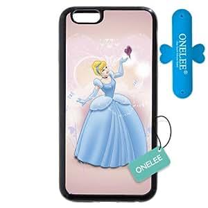 "Funda iphone 6s Caso Case,Disney Cartoon Cinderella Funda iphone 6S 4.7"" Caso Case negro"