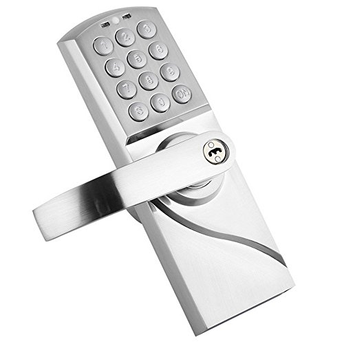 HAIFUAN R Digital Keypad Door Lock with Backup Keys, Electronic Keyless Entry by Password Code Combination (left hand open) WENZHOU BECK ELECTRONIC CO.,LTD